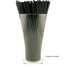 "Cocktail Stir Straws 2500 Count - Black 7"" - Bulk Bar Pub Drink Mixers Supplies"