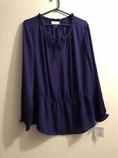 Liz Claiborne Womans Blooming Romance Intrepid Purple top.  XL.  NWT