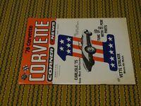 """November 75 """"CORVETTE CORNER CNEWS"""" Volume 1 Number 2 Issue"""