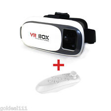 VR BOX 3D Glasses Headset Virtual Reality + Bluetooth Control For iPhone,Samsung