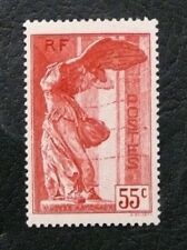 TIMBRES DE FRANCE : 1937 YVERT N° 355* NEUF AVEC TRACE - SAMOTHRACE 55 CTS ROUGE