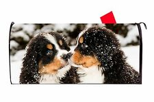 Bernese Mountain Dog Puppies Magnetic Vinyl Mailbox Cover  Made in the USA