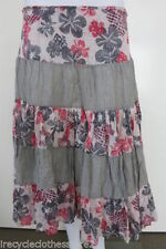 A-Line Hand-wash Only Floral 100% Cotton Skirts for Women