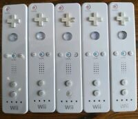Lot Of 5 Authentic White Nintendo Wii Remotes RVL-003 For Parts Or Repair