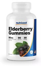 Nutricost Elderberry Gummies (90 Count) - Contains Vitamin C and Zinc