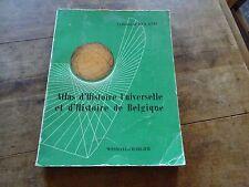 atlas d'histoire universelle et d'histoire de Belgique