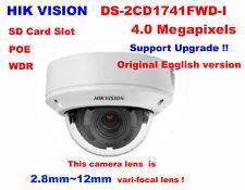 Hikvision Original DS-2CD1741FWD-I 4MP POE IP IR Network indoor 2.8~12mm Camera
