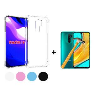 Cover TPU Gel Silicone Anti Shock Xiaomi Redmi 9 + Protector Glass Tempered