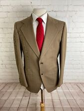 Groshire Men's Brown Textured Blazer 40R $225