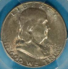 1954-S Franklin Half Dollar PCGS MS65FBL- Gem FBL S Mint, Light Tone