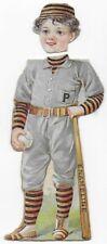 1890's Enameline Stove Polish Princeton U. Baseball Player Victorian Trade Card
