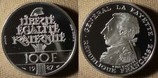 France : 1987 Silver 100 Fr  Beautiful Cameo Proof #962 In Capsule   IR2307