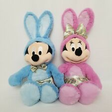 Disney Store EASTER Mickey Mouse & Minnie Mouse in Bunny Outfits