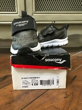 New In Box Toddler Saucony Liteform Low Top, Black, Size 4.0 Extra Wide