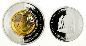 Tanzania 2015 set 2 coins Evolution of the Time  proof colored silver