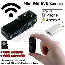 Mini DVR P2P WiFi Livestream zum Handy f. Android / iPhone mit 8GB SD + Netzteil
