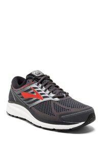 Brooks Men's Addiction 13 Running Shoe, Ebony/Black/Red,1102612E080 SIZE 12 (2E)