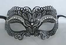 Black Filigree Julius Caesar Metal Party Masquerade Mask No 19 * NEW *