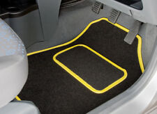 TAILORED CAR MATS WITH YELLOW TRIM FOR FIAT 500 ABARTH (2013 ONWARDS) [3027]