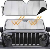 Windshield Sun Shade Sunshade Visor Block UV Keep Vehicle Cool for Jeep Wrangler