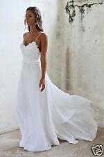 White Bridal Gowns 2018 Backless Chiffon Wedding Dresses Beach Wedding Dress