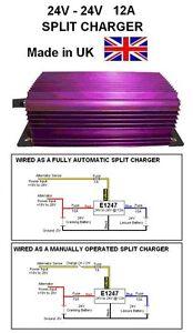24V SPLIT CHARGER, split charge, 12AMP 288W, 24V to 24V, 24V-24V Split Charger