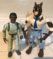 Kenner The Real Ghostbusters 1984 WINSTON and 1989 WEREWOLF Action Figures!