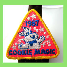 1987 Girl Scout COOKIE SALE PATCH Magic Rabbit,  Stars Multi-1 Ship Charg