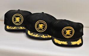 Vintage Truckers Golden Wings Brim K's Snapback Mesh NRA Hat Collection 4.3HL
