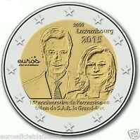 Pièce commémorative 2 euros LUXEMBOURG 2015 - Accession trône du Duc Henri - UNC