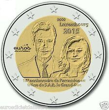 Pièce commémorative 2 euros LUXEMBOURG 2015 - Accession au trône du Duc Henri