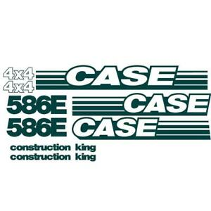 Decal Set Fits Case Backhoe 586E NS (New Style) 4x4 Construction King