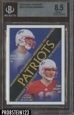 2000 Fleer Tradition #352 Tom Brady New England Patriots RC Rookie BGS 8.5