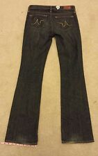 Adriano Goldshmied womens size 27R the ANGEL slim boot cut blue jeans  AG