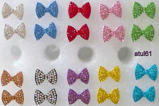 Bow Diamante Crystal Rhinestone Funky Country Dance Ear Stud Earrings NEW
