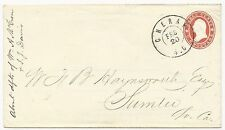 USA Star Die Cover Used in CSA Cheraw, SC CDS February 20, 1861 XF