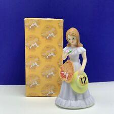 Enesco Growing up Girls birthday gift figurine sculpture box Twelve years old 12