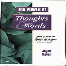 D4 The Power of Thoughts & Words : Life & Death - Joyce Meyer 4 Cassette Audio