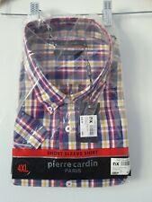 Mens Shirt Size 4XL Navy/Red Pierre Cardin <FF3395