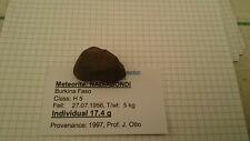 Meteorit Nadiabondi, Chondrit H5, beobachteter Fall 27.07.1956,Burkina Faso,17gr