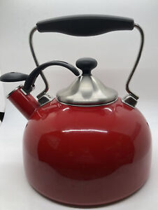 Chantal Red Tea Pot Whistler
