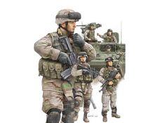 Trumpeter 1/35 moderna armadura Crew & infantería del ejército estadounidense Set # 00424