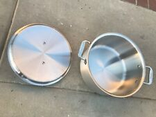 All-Clad USA master chef stainless 8qt stock pot lid Dutch oven cocotte stewpan