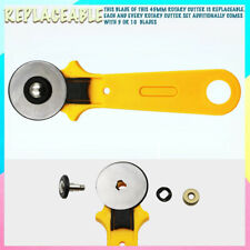 45mm Rotary Cutter Sewing Quilters Fabric Leather Cutting Tool+Scale Blades UK