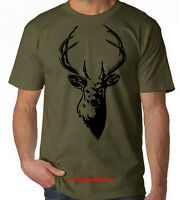 DEER Stag Hunter buck elk antler hunting t-shirt S-XXL tee