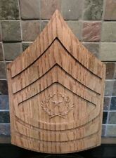 ARMY E9 Rank Plaque Command Sergeant Major Wooden Military Army Promotion Retire