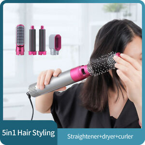 5 In 1 Electric Hair Blow Dryer Comb Brush Hair Curling Wand Curler Straightener