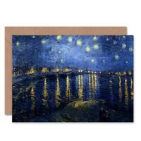 Van Gogh Starry Night 1888 Old Master Blank Greeting Card With Envelope