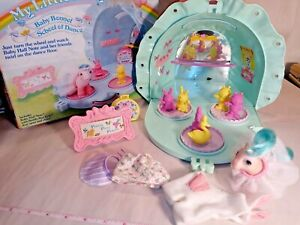 Vintage My Little Pony BABY BONNET SCHOOL OF DANCE & BABY HALF NOTE With BOX