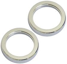 2 Metal Chrome Tap Plinths Fixing Plinth Ring Set Mounting Basin Sink Kitchen